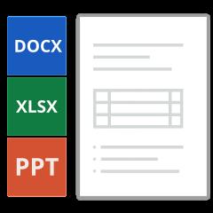 Unser Asset Management Tool unterstützt die detaillierte Ansicht der Microsoft® Office®-Formate für Word® (doc, docx), Excel® (xls, xlsx) und PowerPoint® (ppt, pptx).