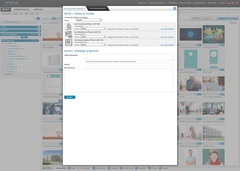 Dateien als Anhang versenden | Schritte