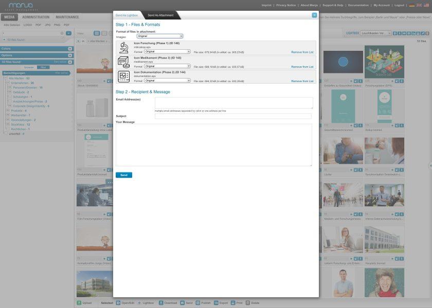 Send Files as Attachment