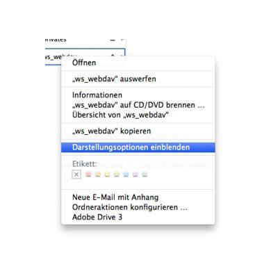OS X: Darstellungsoptionenn einblenden