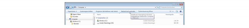 WebDAV verwenden: Windows Vista/7